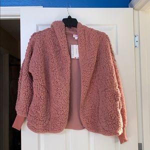 NWT- LuLaRoe mauve Teddy jacket